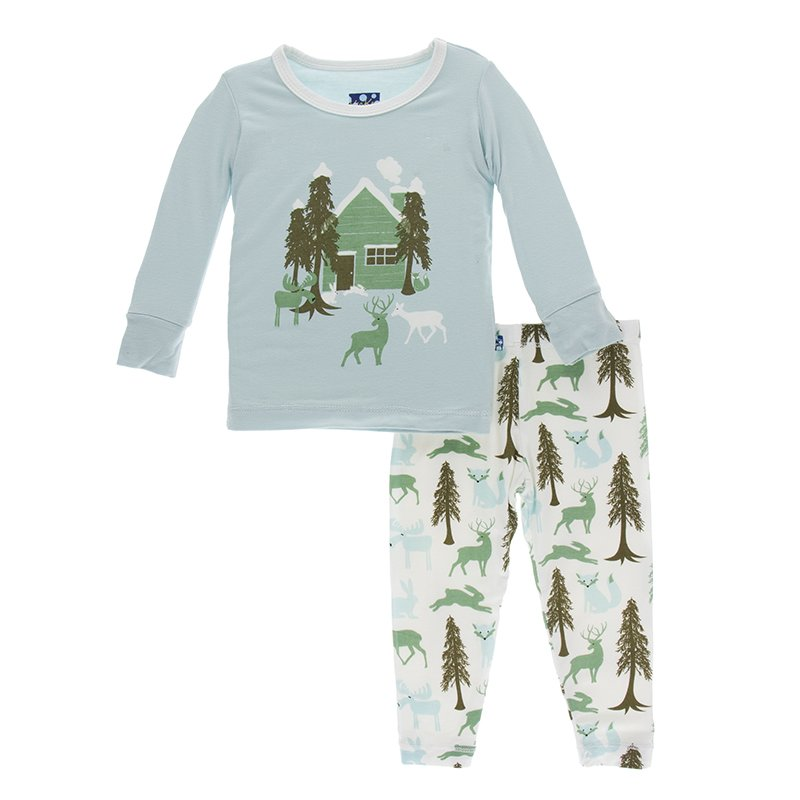 KicKee Pants Pajama Set - Woodland Cabin