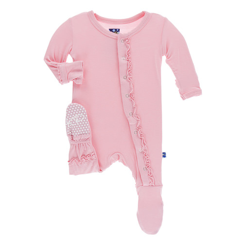 Kickee Pants Basic Muffin Ruffle Footie - Lotus
