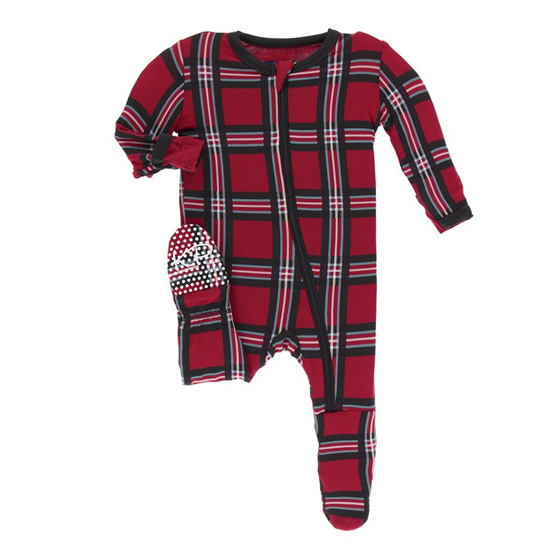 KicKee Pants Plaid with Zipper - Christmas Plaid 2019