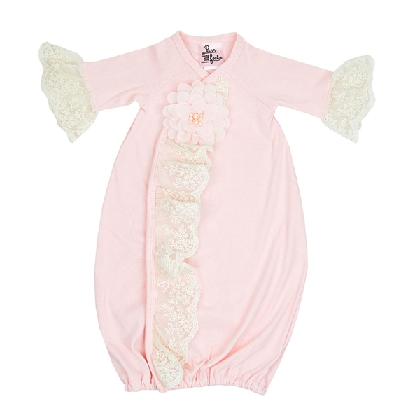 93f972b7d2e Haute Baby Chic Petit Gown - Stunning Floral Baby Take Home Outift