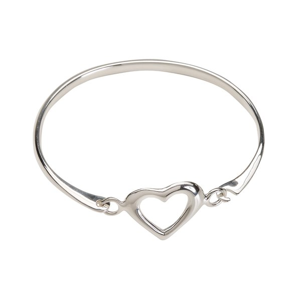 CM Sterling Silver Heart Bangle