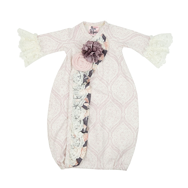 Haute Baby Daphne Gown | Stunning Lavender Baby Take Home Outfit