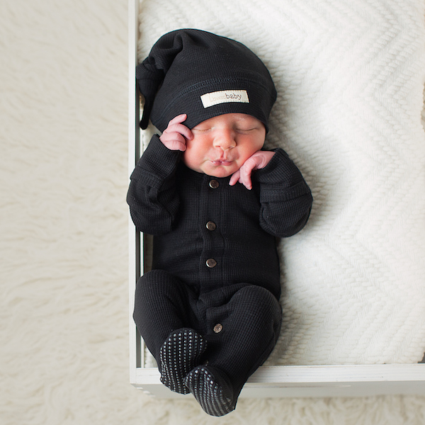 So adorable... this organic thermal footie is sure to be a favorite! | SugarBabies Blog - Boy Oh Boy!