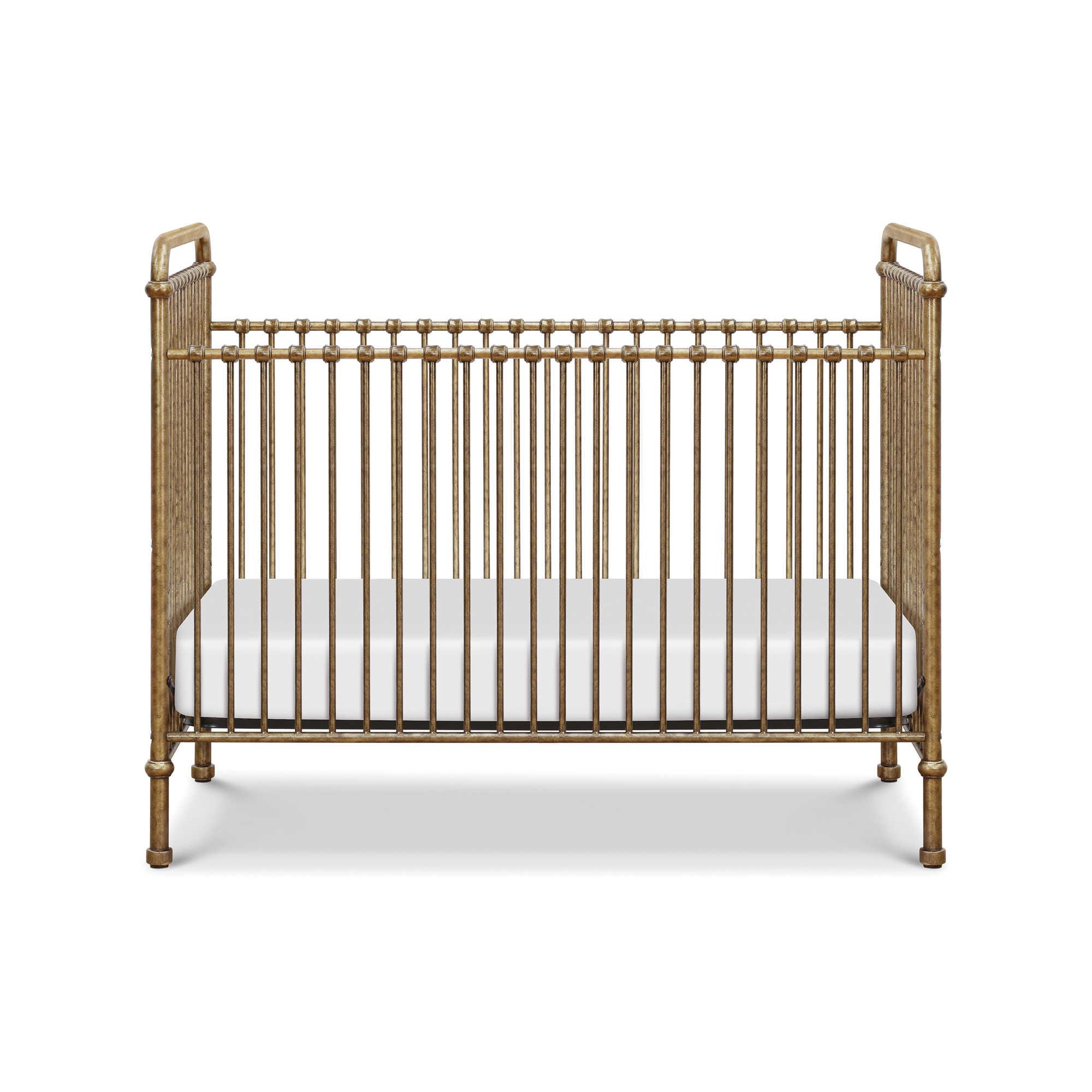 Mdb Clic Aail 3 In 1 Iron Crib Vintage Gold