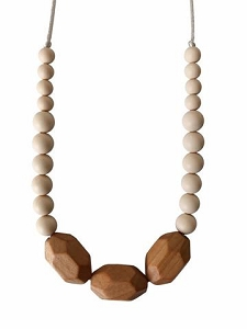 Austin Teething Necklace - Cream