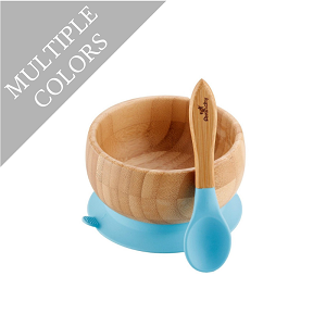 Bamboo Suction Baby Bowl & Spoon Set