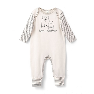 Baby Brother Ivory Romper