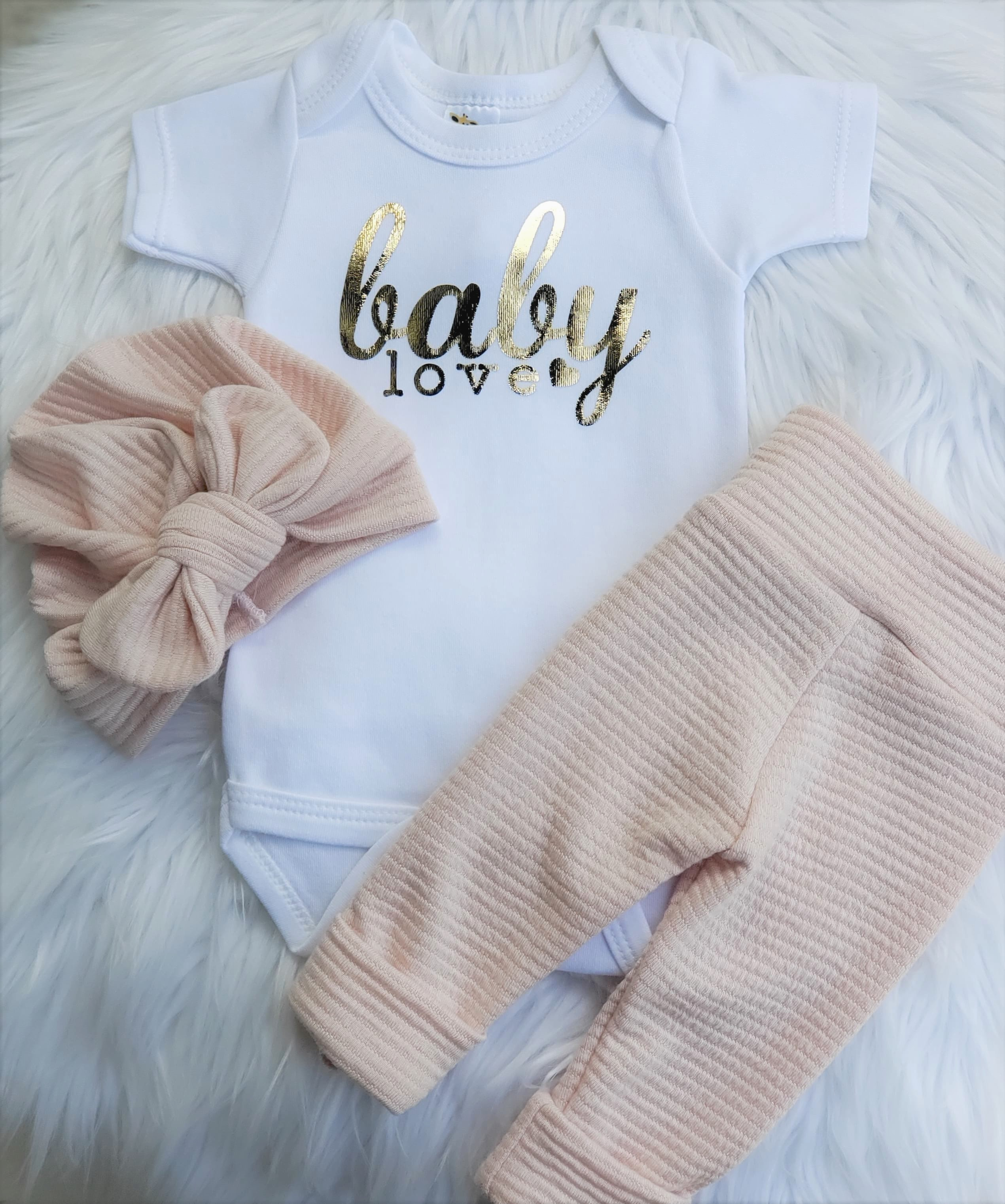 Baby Love Gold Foil Onesie Shop Baby Boutique Outfits That Are Handmade In The Usa At Sugarbabies