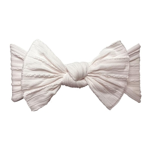 Cable Knit Bow Knot Headband - Ballet Pink
