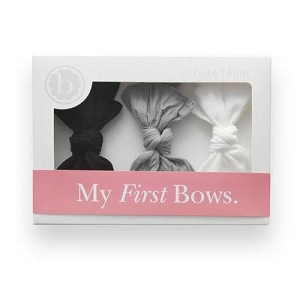 My First Bows Gift Set - Black, Grey, White