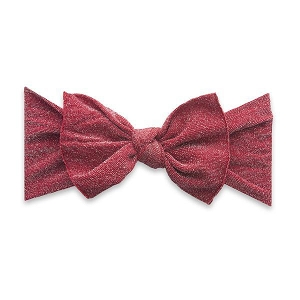 Bow Knot Headband - Shimmer Red