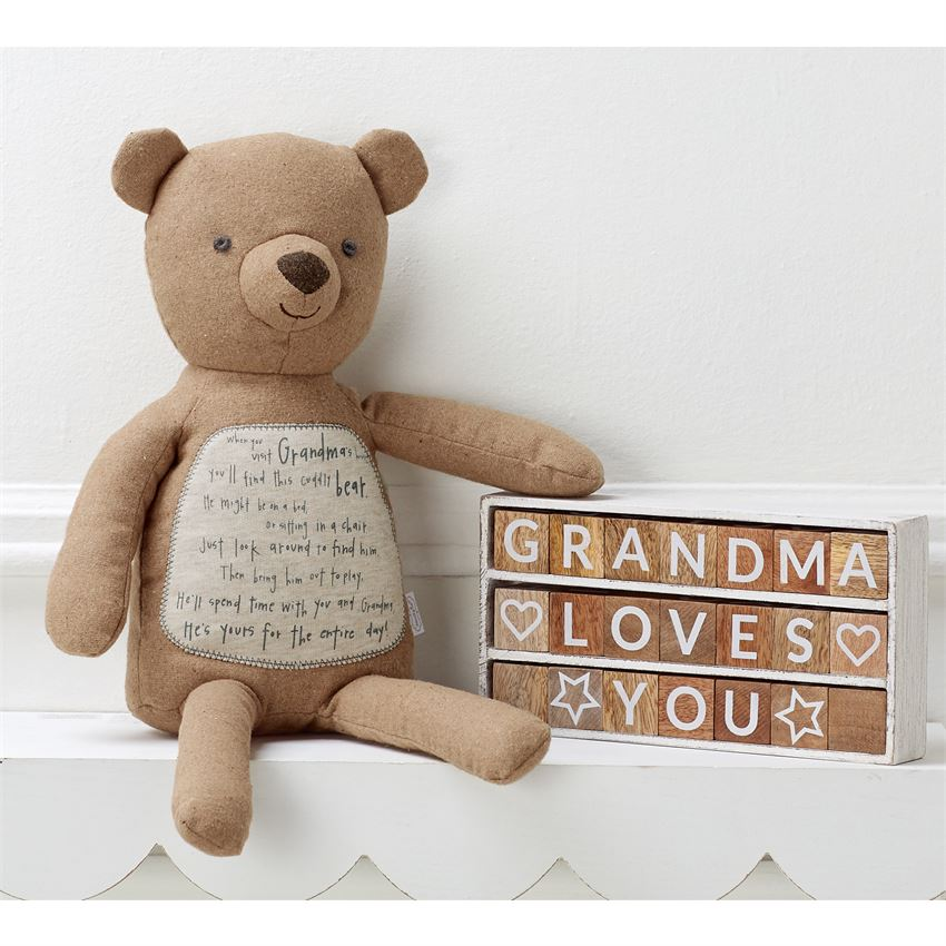 Grandma's House Teddy Bear by Mud Pie