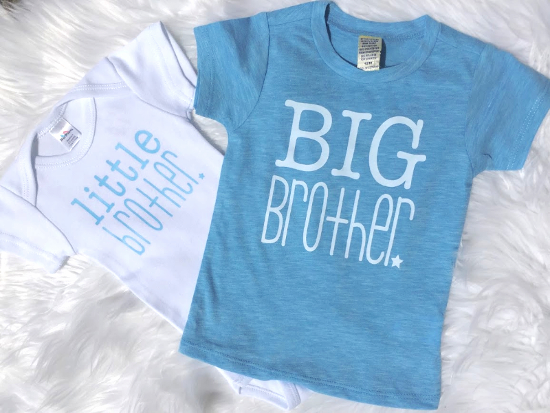 2a197a3f6f Little Brother Onesie - White   Blue