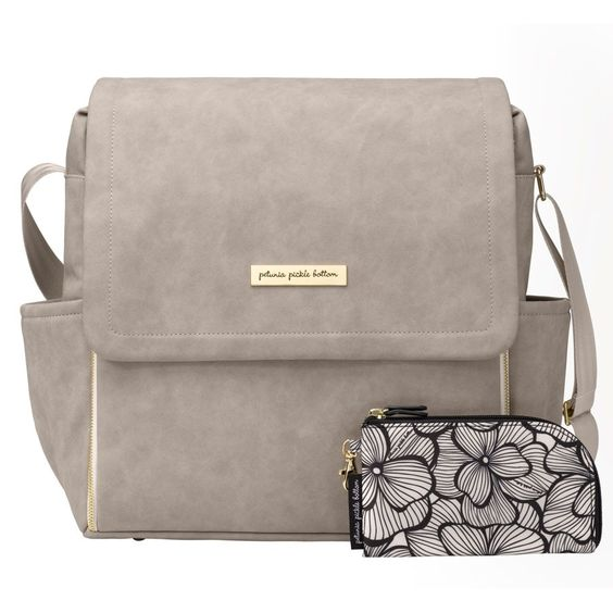 Boxy Backpack - Grey Matte Leatherette