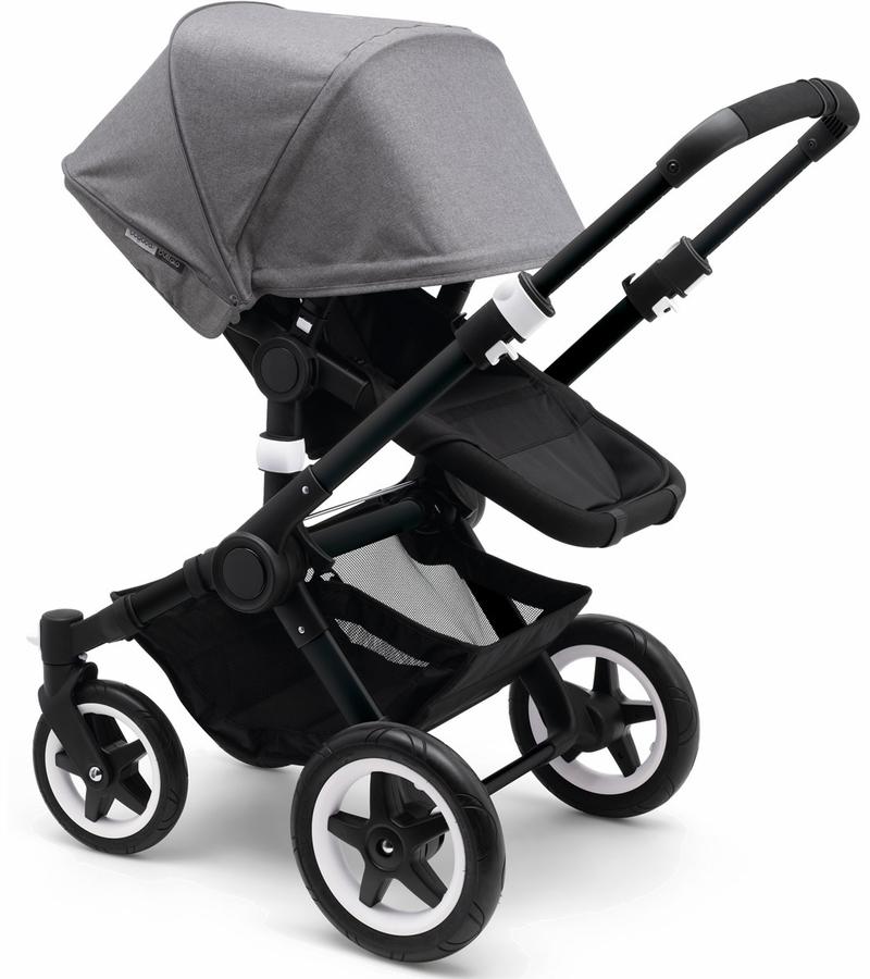 Home Gear Travel Strollers Bugaboo Buffalo Grey Melange Black
