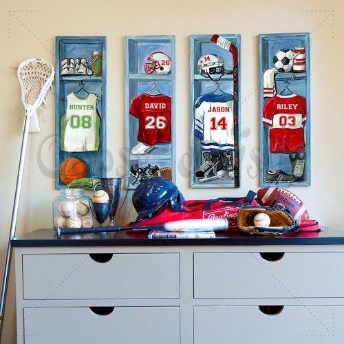 Personalized Sports Locker Canvas