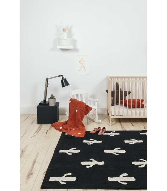 Stamp Rug lorena canals cactus stamp rug | washable rugs for your nursery!