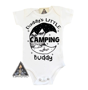Daddy's Little Camping Buddy Onesie