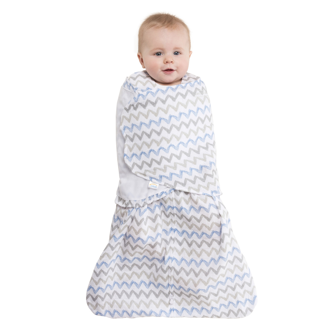 best authentic 1d1e4 d8335 HALO Muslin SleepSack Swaddle - Chevron Taupe