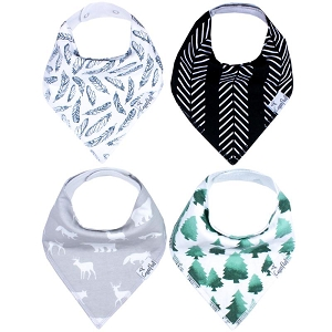 Bandana Bib Set - Woodland