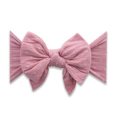 Enormous Bow Headband - Mauve Dot