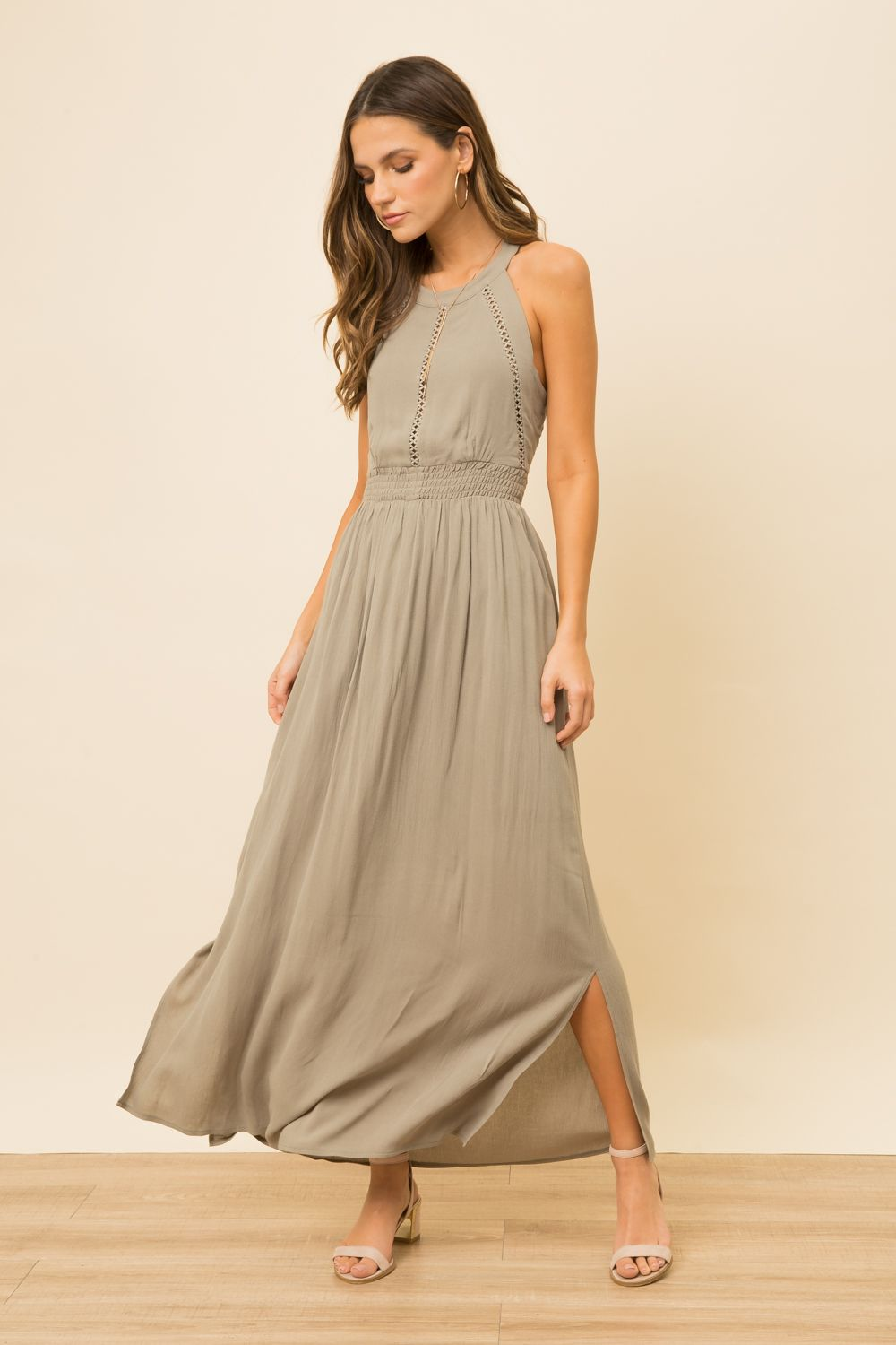Dusty Olive Green Dress