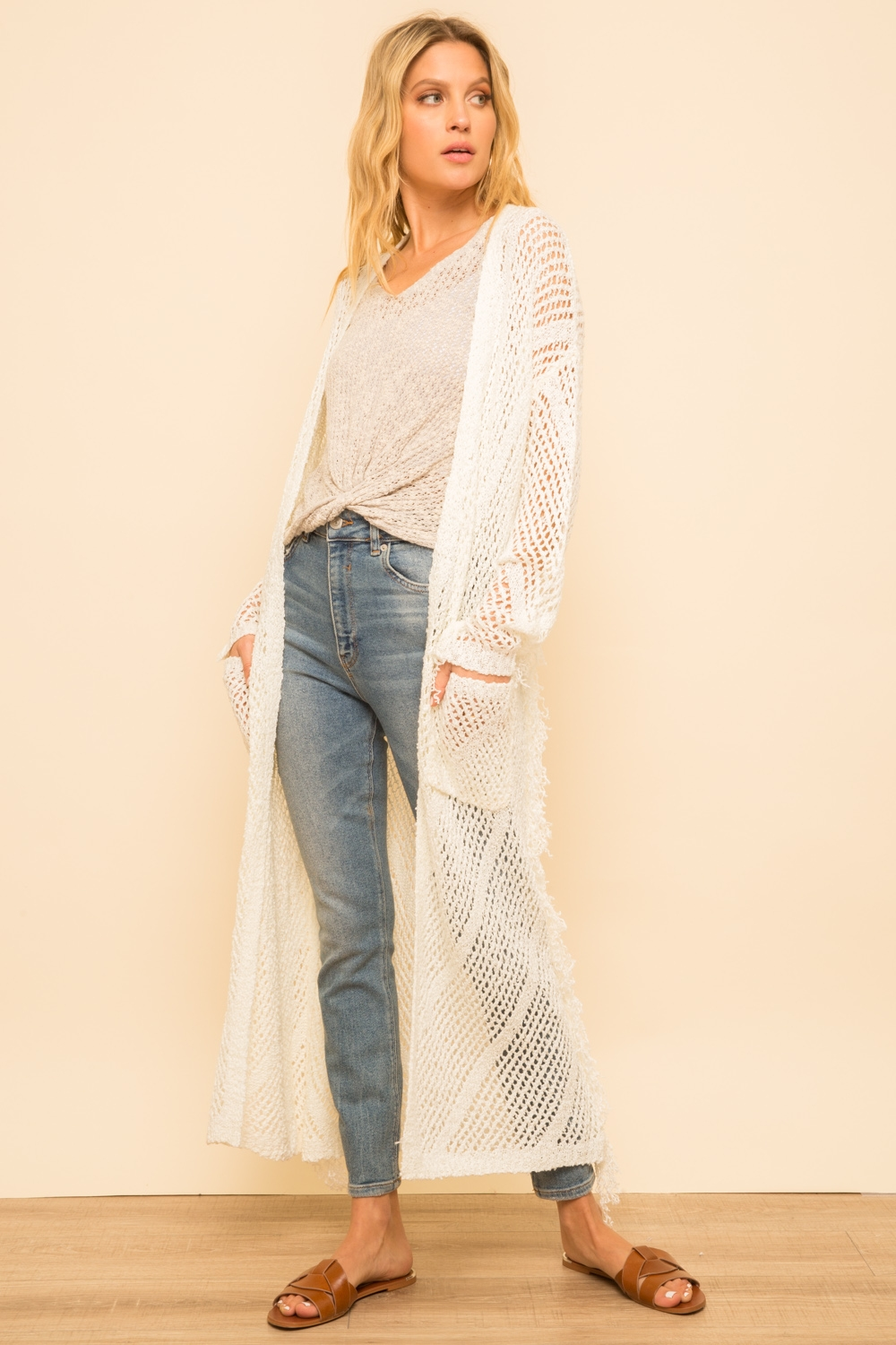 Ivory Duster Sweater