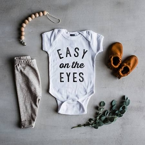 Easy on the Eyes Long Sleeve Onesie