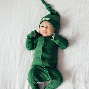 Organic Thermal Long Sleeve Overall Set - Emerald