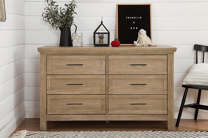 Franklin U0026 Ben Emory Farmhouse Double Dresser   Driftwood (Boutique  Exclusive!)