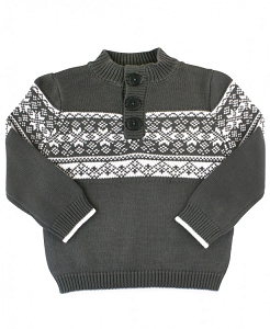 RuggedButts Charcoal Fair Isle Sweater