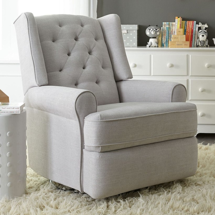 Finley Swivel Glider Recliner In Grey