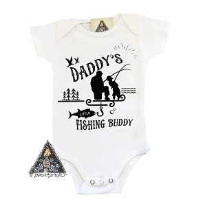 Daddy's Little Fishing Buddy Onesie