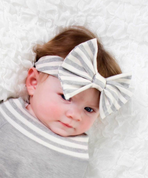 89797513d Grey Baby Bunting   Hat Set