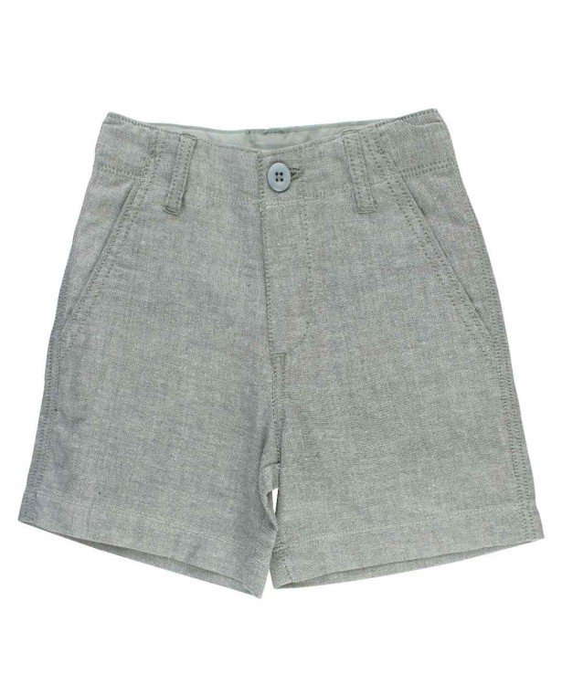Gray Chambray Shorts