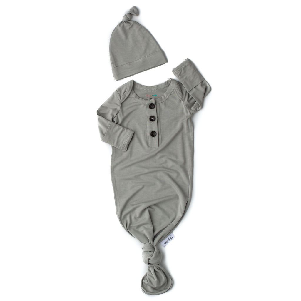 Knotted Gown & Hat - Grey
