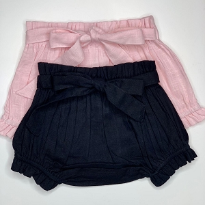 High Waist Tie Bloomer - Black or Pink