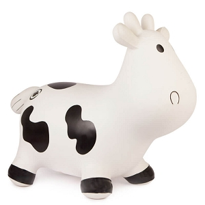 Trumpette Howdy Bouncy Cow - White