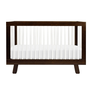Babyletto Hudson 3-in-1 Convertible Crib - Espresso & White