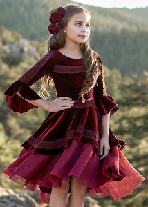 Joyfolie Ida Dress - Cranberry
