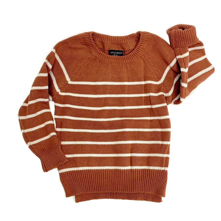 Knit Sweater- Rust