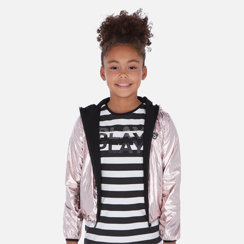 Metallic Blush Windbreaker