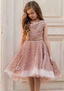 Joyfolie Jacqueline Dress - Blush