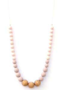 Naturalist Teething Necklace - Pink Rose