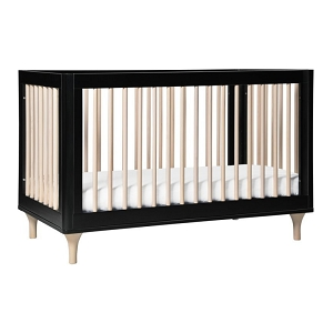 Babyletto Lolly 3 in 1 Crib - Black & Washed Natural