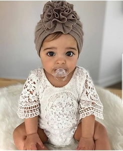 Lovely Lace Ruffle Sleeve Romper
