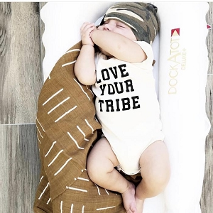 Love Your Tribe Organic Short Sleeve Onesie