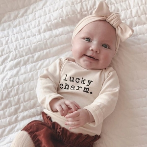 Lucky Charm Organic Long Sleeve Onesie