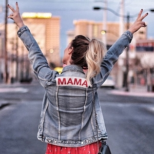 Mama Light Wash Denim Jacket