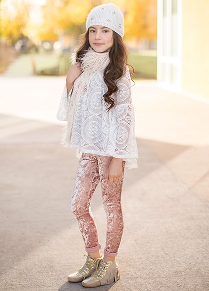 A couture look is easy with Mariah Velvet Leggings! | SugarBabies Blog - Isn't She Lovely!
